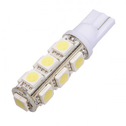 T10 194 168 W5W 13 SMD LED Vit High Power