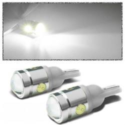 T10 194 168 W5W 2.5W 4-SMD LED Bil LED-belysning Sid Wedge Lampa 12V