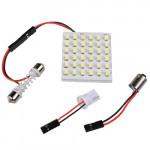 T10 36 SMD LED-ljus Festoon Spollampa Dome lampa Vit 12V Bilbelysning