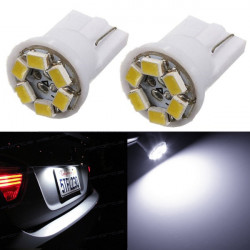 T10 6SMD 1210 LED Turn Light Lamp White DC12V 60lm 6500k