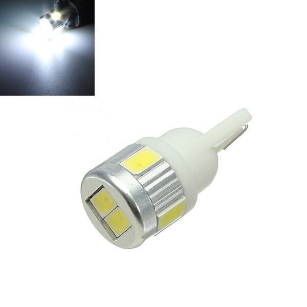 T10 6SMD 5630 SMD 194 W5W Bil Pure Vit 12V 3W Bilbelysning