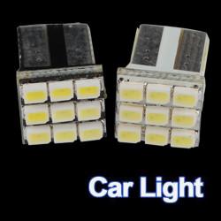 T10 9 SMD 194 168 501 W5W Lysande Vit LED Wedge Ny