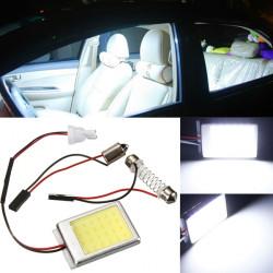 T10 Dome BA9s Festoon Bil Nummerpladelys COB LED Lys Lampe Hvid