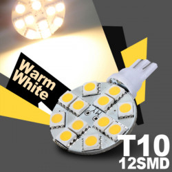 T10 G4 Bulb Spot Light Lamp 5050 12 SMD LED DC 12V Warm