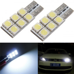 T10 W5W 501 194 3W Jayco 6 LED 5050 SMD Interiör Wedge Ljus Bulb