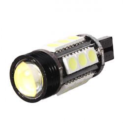 T15 7W LED Hvid Lys Bil Reverse / Back Lys med Objektivet
