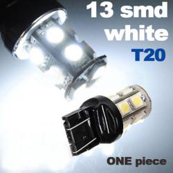 T20 7443 Auto Weiß 13 SMD LED Endstück Bremsen Schalten Side Licht Lampe
