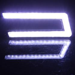 U-SHAPED COB White DRL Daytime Running Light LED Lamp