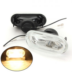 Universal Car H3 55W Fog Spot Lights Bulbs Clear Lens Bracket