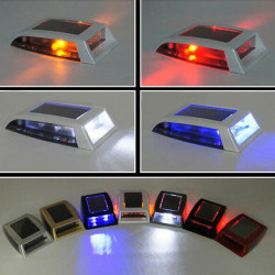 Universal Solar LED Rear-End Car Dome Light Strobe Warning Light