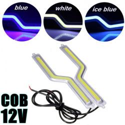 Z förmigen COB DRL helle Tageslichtleiste Nebelscheinwerfer Silber Crust