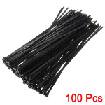 100Pcs 8inch Wire Cable Zip Ties Nylon Wrap 40 LBS Tensile Strap Motorcycle