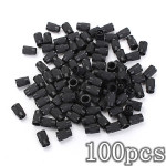 100pcs Plastic Tire Valve Stem Caps Anti-dust Cover Motorcycle