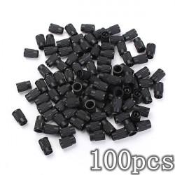 100st Plast Tire Valve Stem Caps Anti-dammskydd