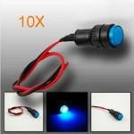10X10mm Universal LED Indicator Dash Panel Warning Light Lamp Motorcycle