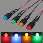10mm Universal LED-indikator Instrumentpanel Varningslampa Motorcykel