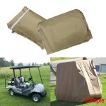 112Inch Golf Cart Cover Taupe Color Protect Against Rain Snow Sun Motorcycle
