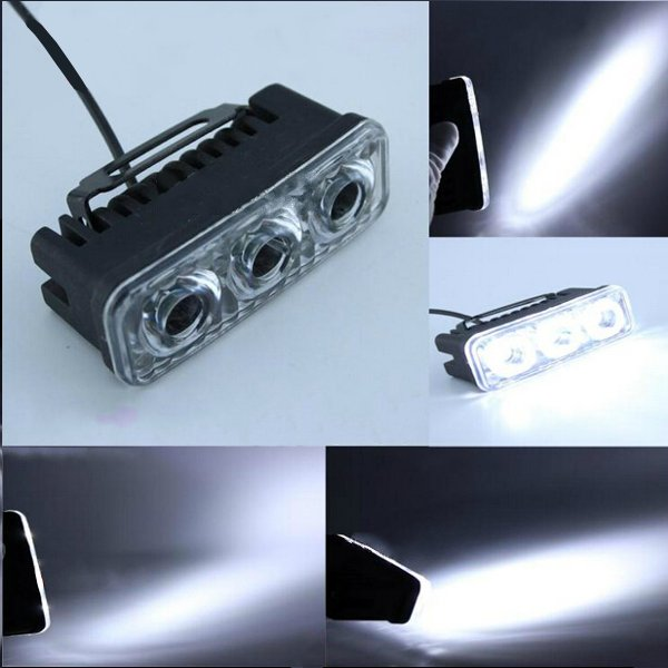 12-80V 9W 6000-6500K Motorcycle Scooter Electric Car LED Headlight Motorcycle