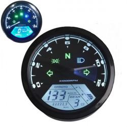 12000RMP LCD Digital Hastighetsmätare Odometer Motorcykel 1-4 Cylindrar