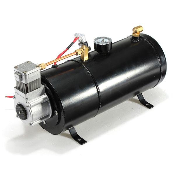 12PSI 12 Volt Air Compressor Tank Pump for Air Horns Vehicle Motorcycle