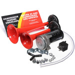 12V 135dB Loud Dual Trumpet Air Horn Kit for Motorcycle Auto Boat Motorcycle