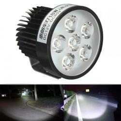 12V 18W Motorcykel LED Strålkastare Driving Spot Light Dimljus