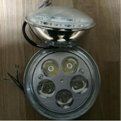 12V 25W 1200LM Vit Motorcykel Sparkcykel Lysdiod Strålkastare Lampa