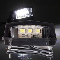 12V 3 LED Skyltbelysning Lätt Motorcykel Lampa