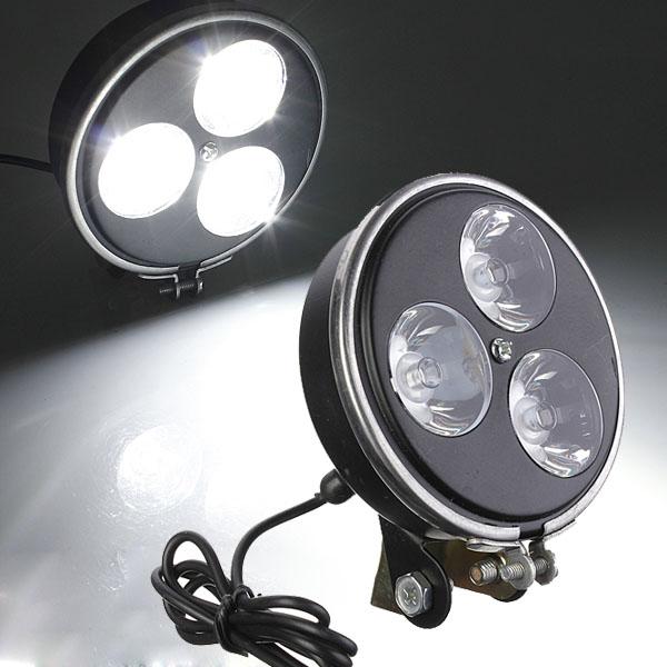 12V 9W 3LEDs Motorcycle E-Bike Headlight Front Spotlight Lamp Motorcycle