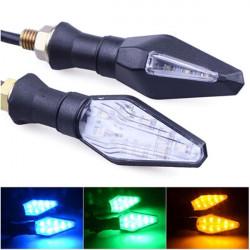 12V LED Motorcykel Blinklys Indikatorer Blå