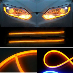 12V Motorcycle Auto Flexible Guide LED Strip Turn Signal Light