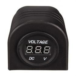 12V Motorcycle Cigarette Lighter Adapter LED Digital Voltmeter Socket