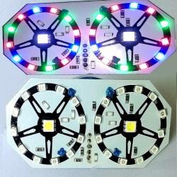 12V Motorcykel Colorful Burst Flashing LED Broms Tail Light