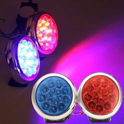 12V Motorcykel Elbiler Advarsel Rød & Blå Round LED Blinkende Lys