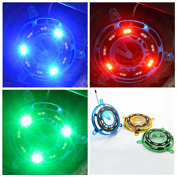 12V Motorcykel LED Fan Cover Blinkande Ljus