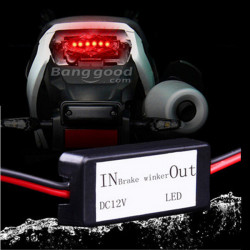 12V Motorcykel Led Baglygte Pærer Bremse Flasher Advarselsblinking Controller