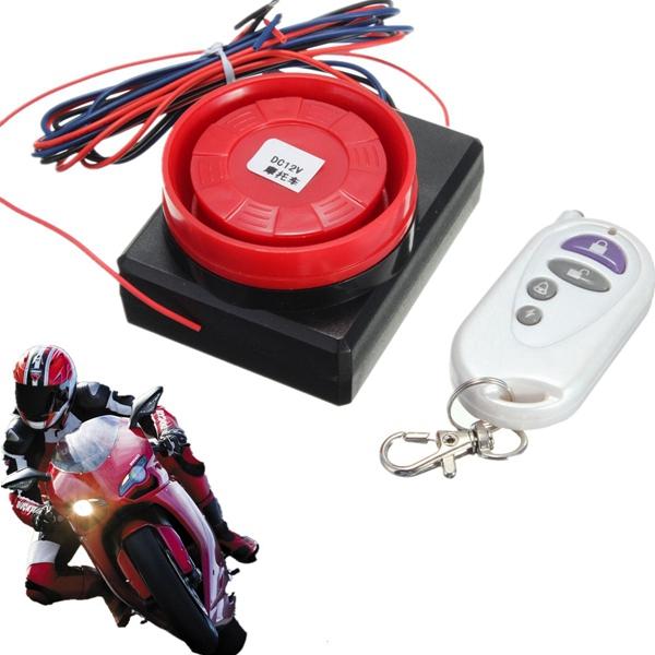 12V Fjärrkontroll Motorcykel Security Vibration Sensor Larmsystem Motorcykel