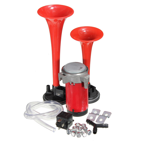 12V Twin Loud Trumpet Air Horn Set with Compressor Car Boat Truck Motorcycle
