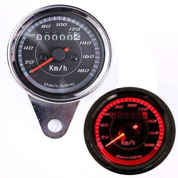12V Universal Motorcycle Odometer Speedometer Gauge Motorcycle