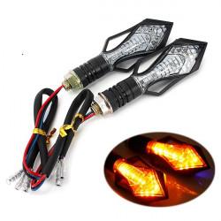13 Led Motorcycle Turn Signal Indicators Light Amber Blue Lamp