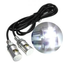 1pair 12V Motorcykel Vit SMD LED Skyltbelysning Bulb