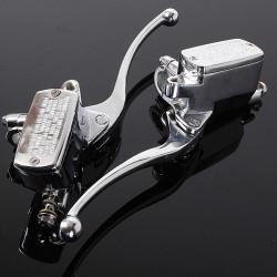 1pair 7/8 Headlebar Brake Master Cylinder Clutch Lever For Harley