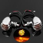 1pair Amber Turn Signal Blinker Light For Harley Chopper Sportster Motorcycle