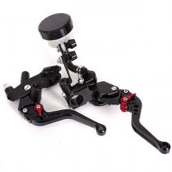 1pair CNC Universal 7/8 Motorcykel Broms Kopplingshandtag Huvudcylinder