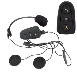 1pair Motorcycle Helmet Headset Intercom with Bluetooth Function