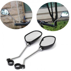 1pair Scooter Electric Bike Handlebar Rear View Mirror