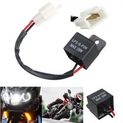 2-Pin Motorcykel Positionsljus LED Lampa Flasher Relay