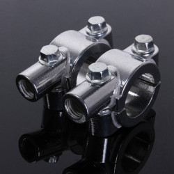 25mm Motorcycle Handlebar 10mm Thread Mirror Holder Clamp Adaptor