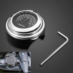 25mm Motorcycle Handlebar Thermometer Gauge For Harley ATV Boat