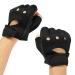 2PCS Black Neoprene Gym Weight Lifting Hand Sport Gloves Motorcycle